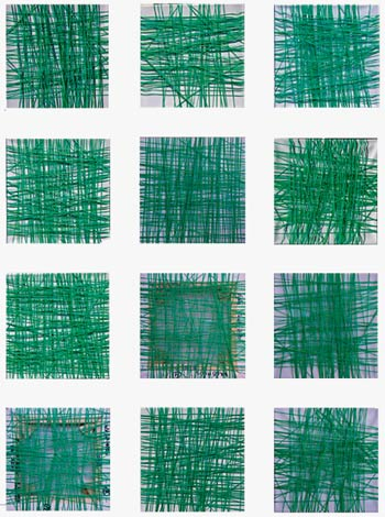 Edda Seidl Reiter: Waldmoos Textilgrafik 130X98cm