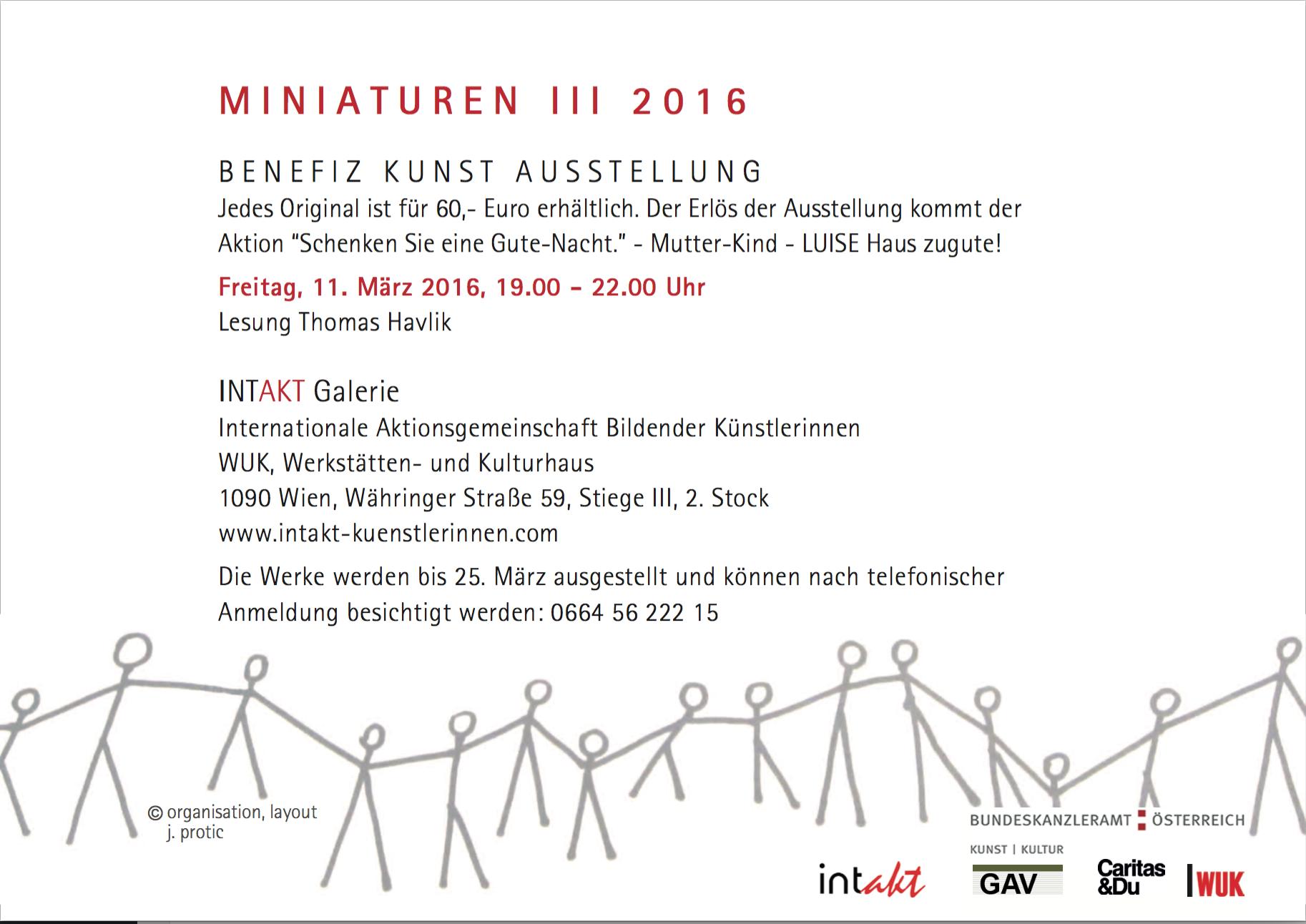 Miniaturen III 2016 / 11.3.2016